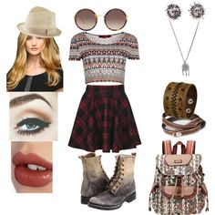hippie by sara1096 on Polyvore featuring polyvore fashion style Boohoo Frye Sakroots NOVICA Nemesis With Love From CA Linda Farrow Express Charlotte Tilbury