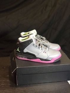 ce369f3e72d2 Nike Air Jordan Flight Origin Shoes Grey Youth Sz 6.5Y 599606-090 Jumpman   fashion  clothing  shoes  accessories  kidsclothingshoesaccs  girlsshoes  (ebay ...