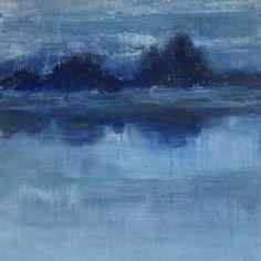 """Moon"" 48×40 on wood panel"