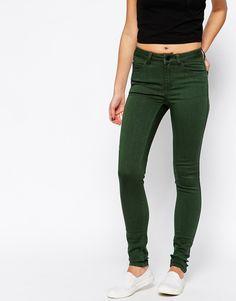 Pieces Green Five Pocket Skinny Jegging