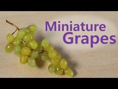 Easy; Miniature Grapes - Polymer Clay Tutorial - YouTube