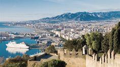 Vistas de Málaga, capital de la Costa del Sol.