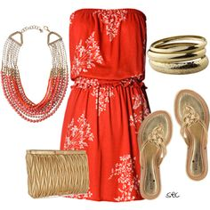 Gold and Red, created by coombsie24 on Polyvore