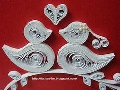 quilling love birds | Spare Room | Pinterest | Quilling ...