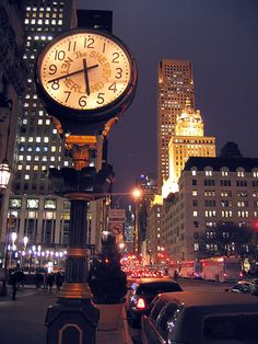 NYC. The Sherry Netherland Clock on Fifth Avenue.