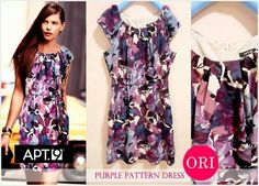 let's shop here : Apt9.Purple Pattern Dress