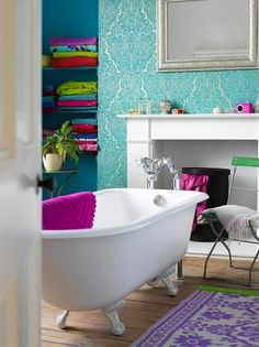 50 Bright And Colorful Room Design Ideas:: If I didn't repin this, I'd regret it later
