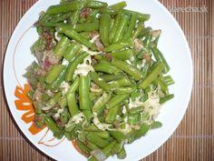Fazuľové struky s cibuľou alebo cesnakom (fotorecept) Asparagus, Green Beans, Vegetables, Recipes, Food, Diet, Studs, Essen, Eten