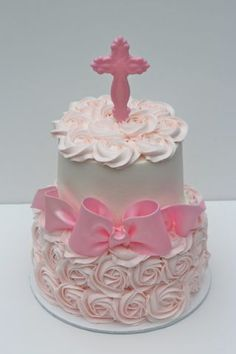 Baptism for baby girl - CakesDecor