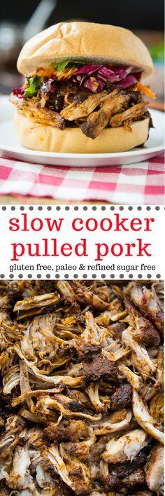 Paleo Slow Cooker Pulled Pork (or Chicken)