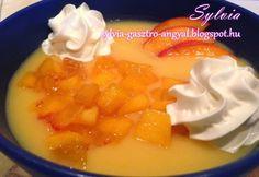 Őszibarack krémleves Sylvia Gasztro Angyal konyhájából