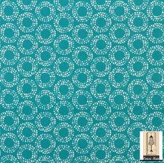 Coupon de tissu japonais tissu bleu turquoise en coton avec des cercles à pois : Tissus Habillement, Déco par cousu-main-mercerie