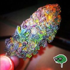 'Fruity Pebbles Marijuana Strain. Gives you a feeling of euphoria.' Well that's just pretty