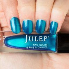 Julep Magdalene - Blue curacao shimmer nail polish