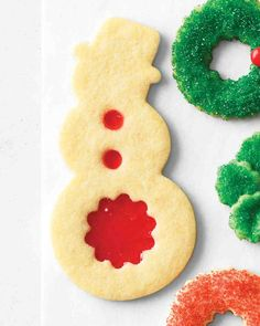 TRADITIONAL CHRISTMAS COOKIE RECIPES: Stained-Glass Snowmen Cookies
