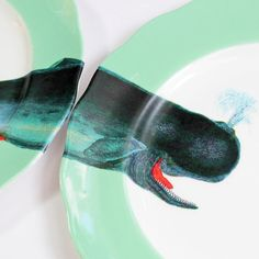 Whale of a Time plates by yvonneellen on Etsy