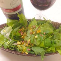 ピスタチオをのせてみました - 17件のもぐもぐ - グリーンサラダ by Masamana