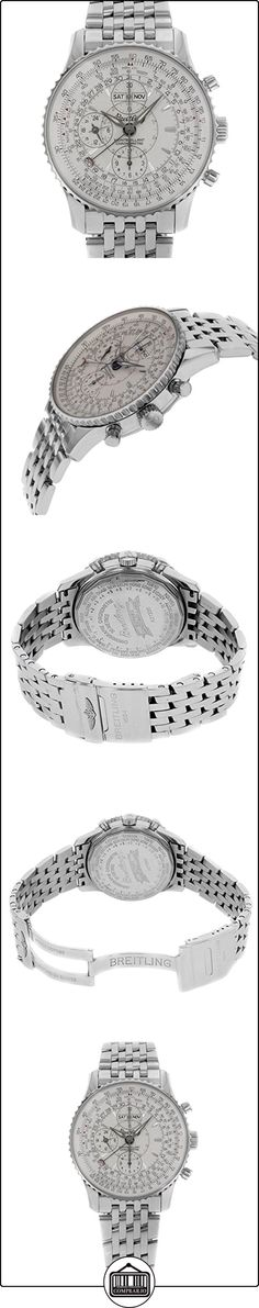 Breitling Reloj automático/mecánico con cronógrafo para hombre, dial de color marfil, acero inoxidable  ✿ Relojes para hombre - (Lujo) ✿