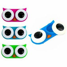 Owl contact lens cases.