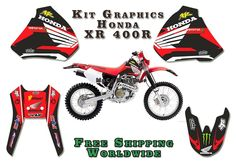 Honda Xr 400, XR400R Graphics decals!!!excellent quality #fan