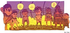 The Empire Strikes Back by Dan Hipp
