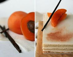 Apricot, Passion Fruit, and White Chocolate Opera Cake