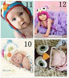 children cotton crocheted animal hats