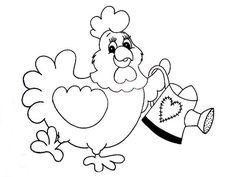 Resultado de imagem para risco de galinhas para pintura em tecido