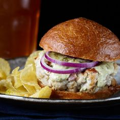 Grace Parisi uses a lemongrass wet rub in her Asian twist on the tuna burger, spiked with smoky bacon.  Slideshows: More Seafood Burgers ...