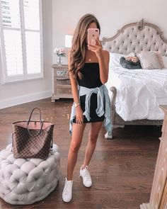Little black dress, Cute outfits Casual wear, Dress shirt Cute Date Outfits, Date Outfit Casual, Night Outfits, Cute Casual Outfits, New Outfits, Fashion Outfits, Casual Date Night Outfit Summer, Vegas Outfits, Woman Outfits