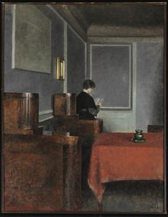 Vilhelm Hammershøi (Danish, 1864-1916), Interior with a woman seen from the back. Strandgade 30, 1904. Oil on canvas, 70 x 54 cm.