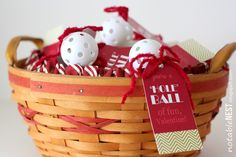 DIY Easy Valentine Cards: Golf Ball Valentines | Inspired by FamiliaInspired by Familia
