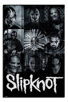 Slipknot Masks Official Poster