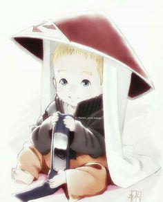 Naruto Uzumaki un pequeño gran Hokage. *-* <3