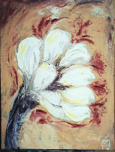 The first flower Flowers, Painting, Art, Art Background, Painting Art, Kunst, Paintings, Performing Arts, Royal Icing Flowers