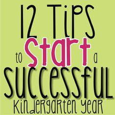 KindergartenWorks: 12 tips to start a successful kindergarten year