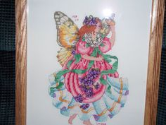 Flower fairy cross-stitch