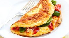 This impressive vegetarian omelette recipe is great for any time of the day.