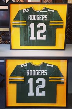 Jerseys can be framed many different ways! Though we prefer the three mat look, the single mat look as seen here is simple and classic. Whatever your preference, we can help! ‪#‎denver‬ ‪#‎colorado‬ ‪#‎jerseyframing‬ ‪#‎sportsframing‬ ‪#‎greenbaypackers‬ ‪#‎aaronrodgers‬