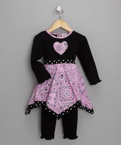 Take a look at this Pink & Black Bandana Tunic & Leggings by JoJo Designs on #zulily today!