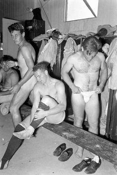 Locker room, 1950s