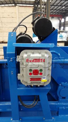 the explosion proofing electric control cabinet installed on KOSUN hi-g dryer for drilling waste management. http://www.xakx.com/portfolio/hi-g-dryer/