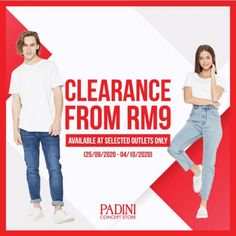 Padini Concept Store Clearance Sale As Low As RM9 from 25 September 2020 until 4 October 2020 Pos Design, 1st Avenue, 25 September, Fashion Sale, Clearance Sale, Concept, Club, Store, Larger