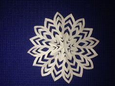 Легкий способ как сделать снежинку (Способ 2) | How to make a Snowflake ...