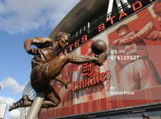 A statue of Arsenal and Netherlands legend Dennis Bergkamp was unveiled outside the Emirates Stadium.