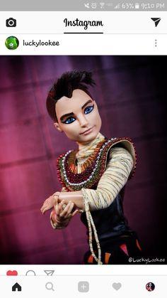 Monster High Boys, Custom Monster High Dolls, Custom Dolls, Ooak Dolls, Art Dolls, Catty Noir, Monstera Deliciosa, Doll Stuff, Custom Art