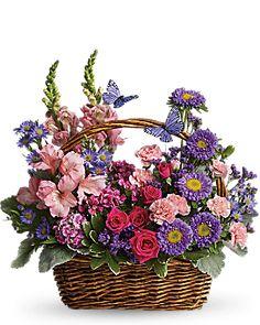 Country Basket Blooms Basket Arrangement