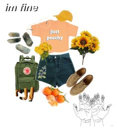 """""""hallucinate"""" by sighsaturn on Polyvore featuring Fjällräven, Just Peachy, Officine Creative, Gucci and Topshop"""
