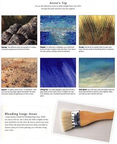 How to blending paint tips hake brush, use a pizza cutter to create grass lines in a painting, #paintingtips