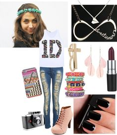 """1D Concert"" by emilyfashiongirl ❤ liked on Polyvore"